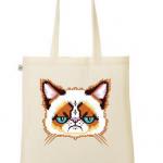 Grumpy Cat als Stoffbeutel