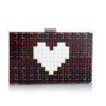 les petits joueurs Grace Lolita Plexi Tweed Fucsia Box Bags